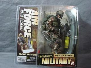 Mcfarlanes Military Series 5 Bonus Sized Air force Para Rescue MOC