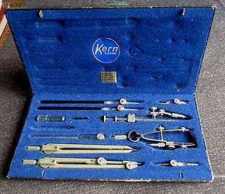 Vintage KERN AARAU DRAFTING TOOL SET   RAEBER MULLER   SWISS