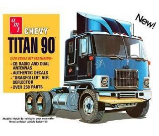 AMT Model Kit # 603 Chevy Titan 90 CABOVER TRUCK 1/25 GMS CUSTOMS