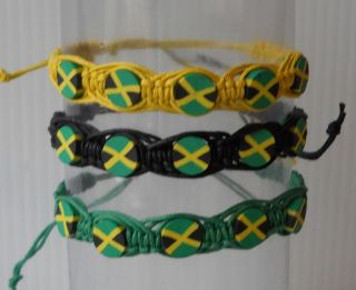 Country Flag String/Rope Bracelets 3 Colors 6 long with Tie Sting