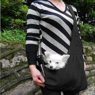 Black Oxford Cloth Sling Pet Dog Cat Tote Single Shoulder Bag Carriers
