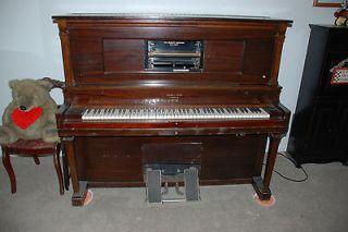 1920s Aeolian Stroud Mahogany Player Piano & 70 plus Rolls Manual or