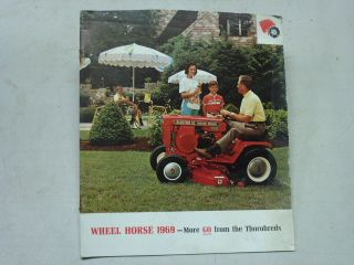 VINTAGE 1969 WHEEL HORSE TRACTORS SALES BROCHURE, 32 pages