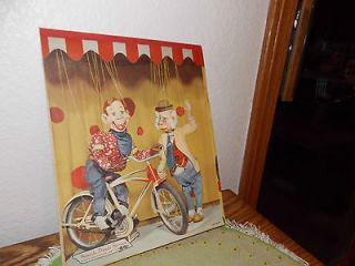 Rare Vintage Howdy Doody lined paper tablet puppets bike Bob Smith