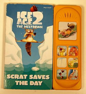 2006 Ice Age 2 The Meltdown 9 Play A Sound Book (makes 7 sounds)