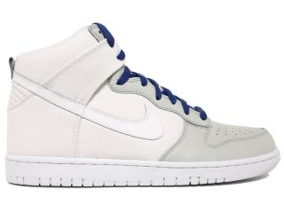 Nike Dunk High White/Grey/Blu​e Mens High Top Retro Basketball Shoes