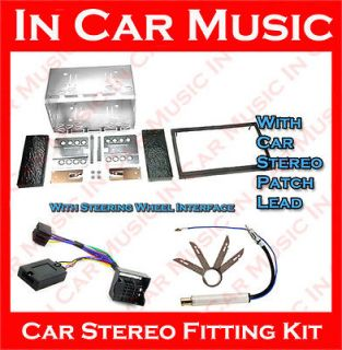 Skoda Octavia Double Din Facia Stalk Adaptor Sony Car Stereo Cage