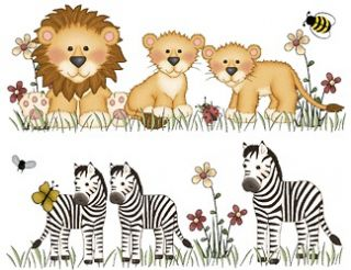 ANIMALS CHILDRENS NURSERY BABY KIDS WALL BORDER ROOM STICKERS DECALS