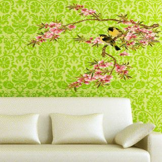 NEWEST Beautiful FLOWER BRANCE TREE BIRD VINY decor WALL Sticker