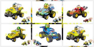 sets 27 30pcs Small Building Block Set Pull back racing Car Toy