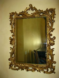 STUNNING Vintage Wall MIRROR French Provincial Gold Gilt ORNATE