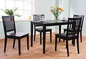 Furniture black dining room chairs