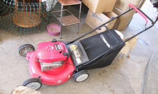 HP Briggs and Stratton Troy Bilt 21 Gas Mower with grass catcher
