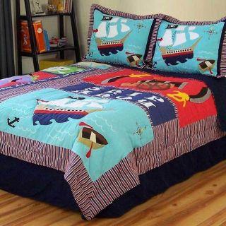 Pirates Treasure Full Queen Bedding by Pem America