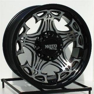 20 Black AO Patrol Wheels Rims 8x165.1 8 Lug Chevy GMC Dodge Ram 2500