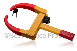 Car Wheel Tire Lock Clamp Parking Illegal Towing Auto Boat Trailer