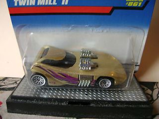 1998 Twin Mill II #861 chrome engines,side pipes,wheels hot wheels