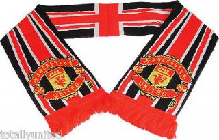 Manchester United Union Jack Scarf Official Licensed Man Utd, Mufc