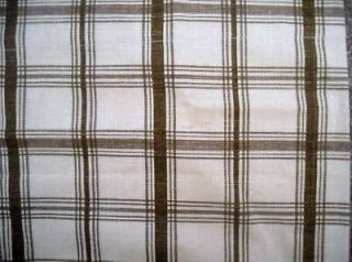 Waverly Fabric PANTRY PLAID SPA Brown Scallop Valance _ NIP
