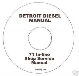 Detroit Diesel 71 In line Engine Shop Manual CD