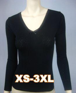 Women Long Sleeve PURE Merino Wool Thermal Underwear XS 3XL 16