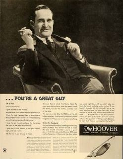 1934 Ad Antique Hoover Vacuum Cleaner Appliance   ORIGINAL ADVERTISING