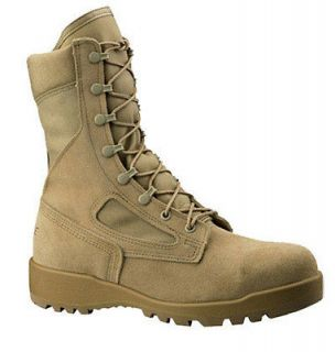 Belleville Mens Hot Weather Flight & Combat Vehicle (Tanker) Boots TAN