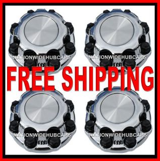 Setof4 chevy gmc 8 lug chrome 16 wheel center caps hub cap covers