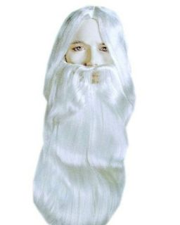 Rip Van Winkle Gandalf Lord of Rings White Costume Wig & Beard Set