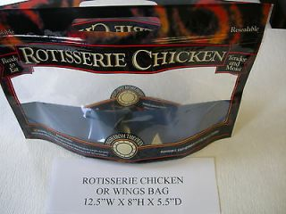 CHICKEN OR WINGS BAG,12.5X8X5.5​ USE WITH BROASTER PRESSURE FRYER