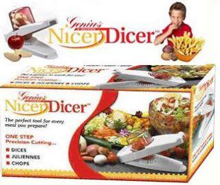 NEW Vegetable Fruit Salad Nicer dicer Plus Slicer Cutter Container