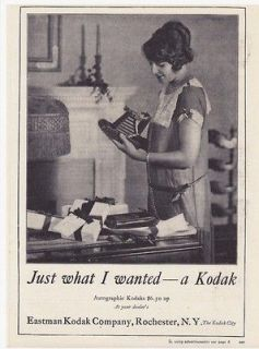 Vintage 1920s Antique AUTOGRAPHIC KODAK Folding CAMERA ~ REPRINT AD