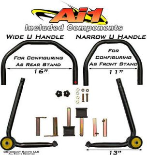 Ai1 ALL IN 1 MOTORCYCLE PADDOCK SPOOL WHEEL LIFT STAND (Ai1)