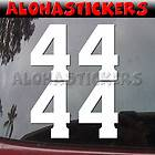 inch RACE NUMBER 4 FOUR Car Truck Vinyl Decal Window Sticker V53M