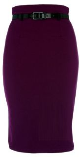 NEW WOMENS JERSEY PULL ON PENCIL KNEE LENGTH SKIRT LADIES PENCIL SKIRT