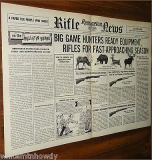 1956 REMINGTON RIFLE Centerfold AD Model 760 Gamemaster~740 Woodmaster