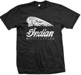 Retro Indian Motorcycles Vintage Biker T Shirt BSA,Victory, Norton