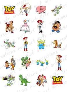 20 ASST DISNEY TOY STORY WATER SLIDE NAIL ART DECALS TOY STORY NAIL