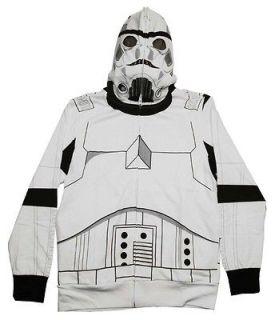 Star Wars Storm Trooper Costume Uniform Zip Up Masked Hoodie