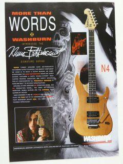 vintage magazine advert 1992 WASHBURN N4 nuno bettencourt