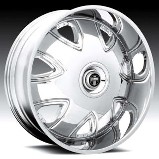 DUB 30x10 BANDITO Chrome RIMS Wheel & TIRE Package 30inch with TIRES