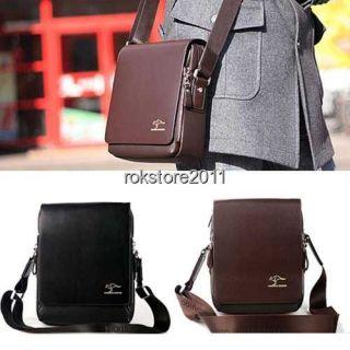 Western New Kangaroo Mens Leather Shoulder Messenger Bag Briefcase