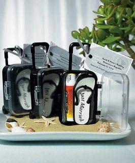12 Plastic Travel Trolley Suitcase Wedding Favor Boxes Favors