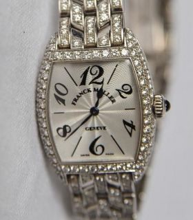 Ladies 2251 MC*DIAMOND+18K White Gold Watch LTD ED Cintree Curvex