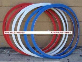 26x1 3/8 red white blue BIKE BICYCLE ROAD BIKE TIRES