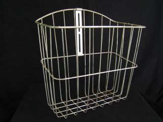 Wald Steel Wire Bicycle Saddle Bag Hanging Storage Basket Front Decor