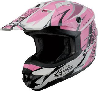 GMAX Womens Ladies Girls Pink/Wht/Blk Motorcycle ATV Dirt bike Quad