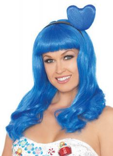 Katy PERRY California Girls Gurls Costume Heart Blue Wig Adult Womens