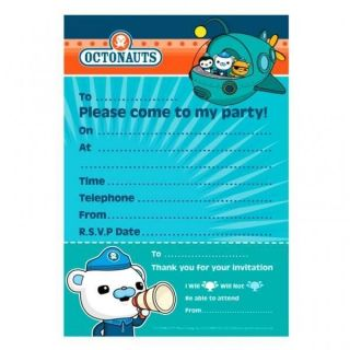 Octonauts Party   Birthday Party Invitations x 20