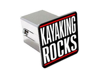 Kayaking Rocks 2 Chrome Tow Trailer Hitch Cover Plug Insert